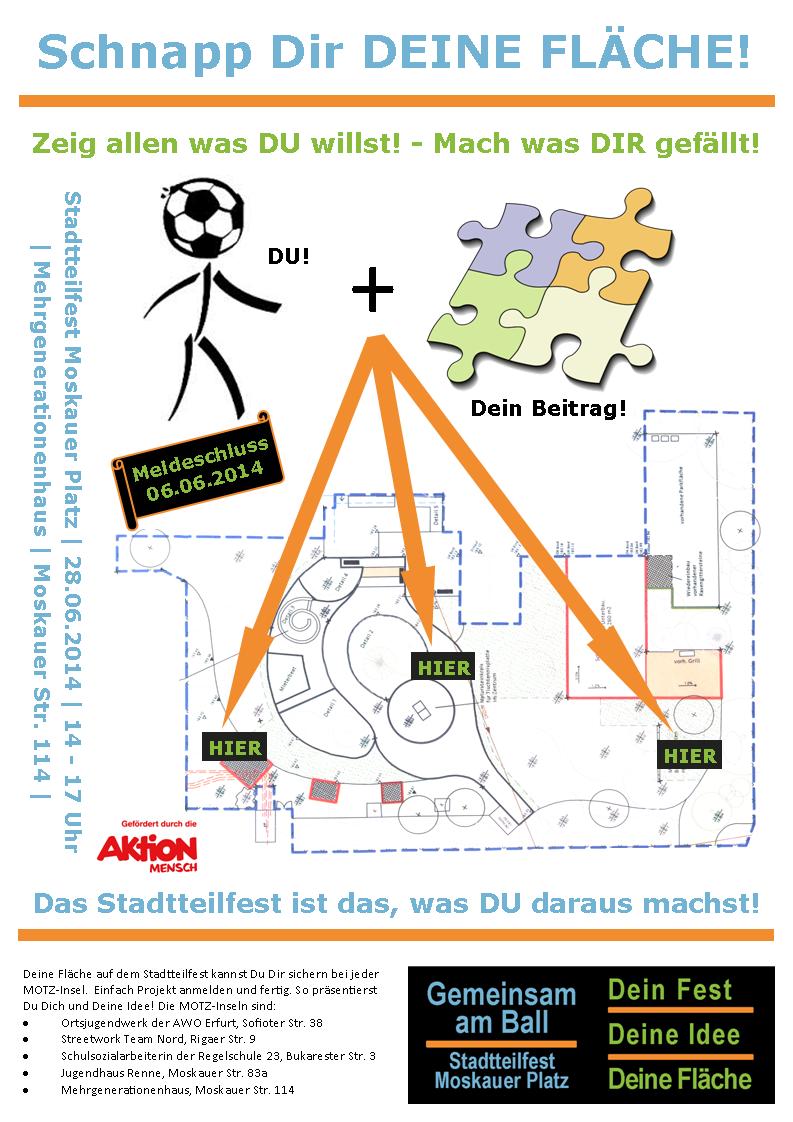 Plakat Flächennutzung